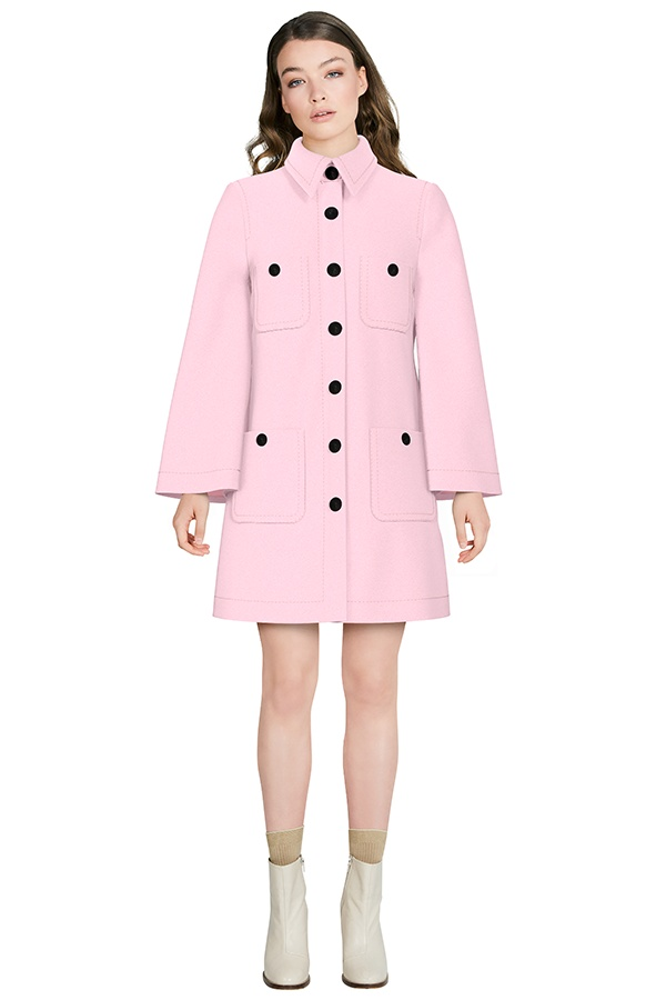 One-Fifty-Third Audrey A-Line Coat